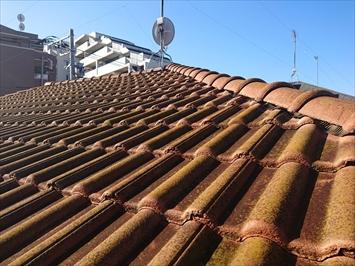 築10年のモニエル瓦葺き屋根