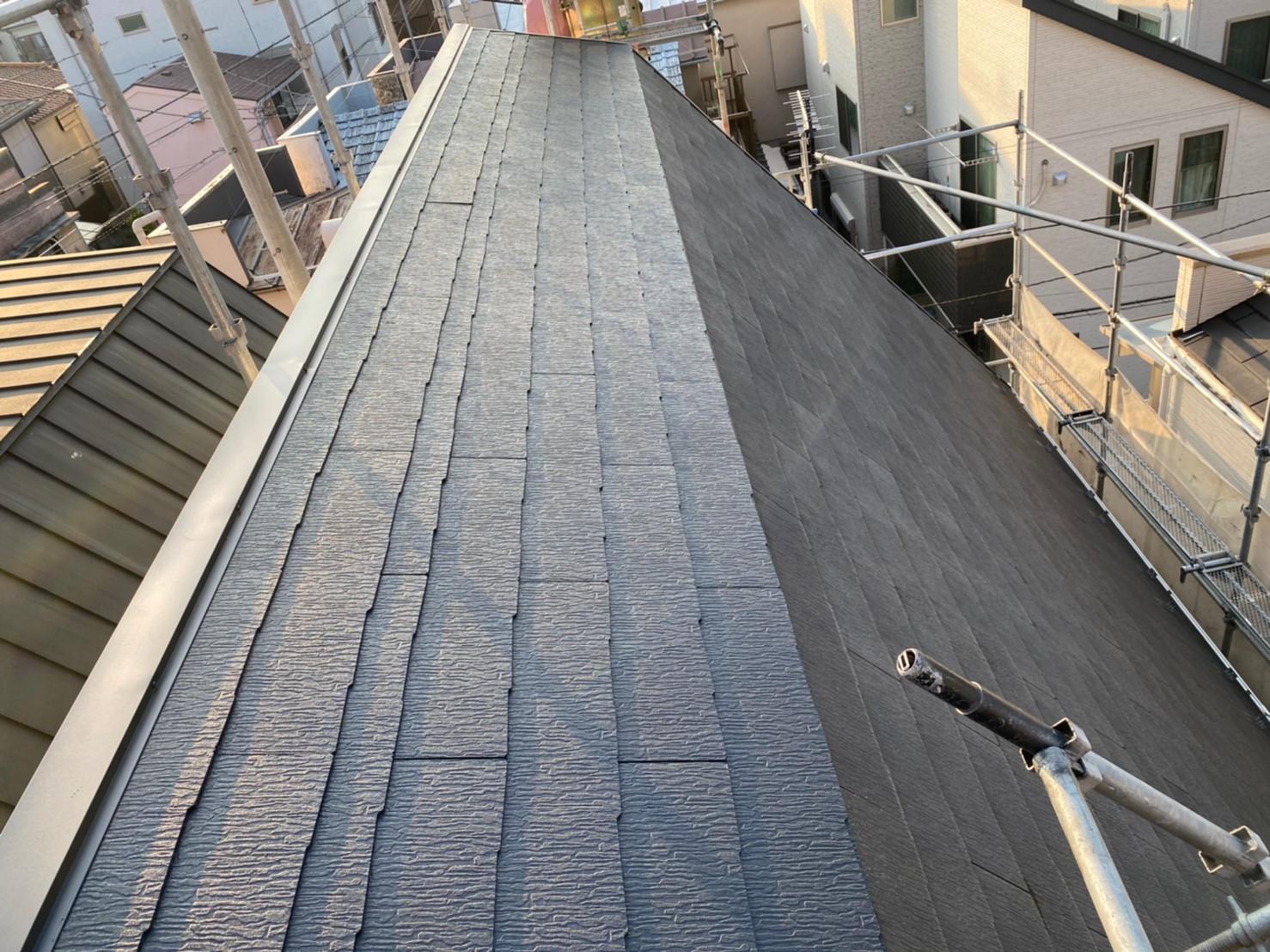修理完成後の屋根