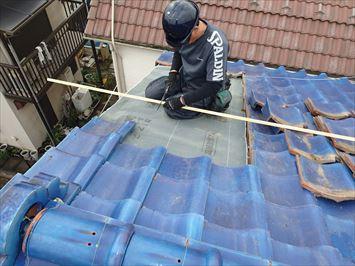 江戸川区春江町で台風でズレた瓦屋根の補修工事を行いました