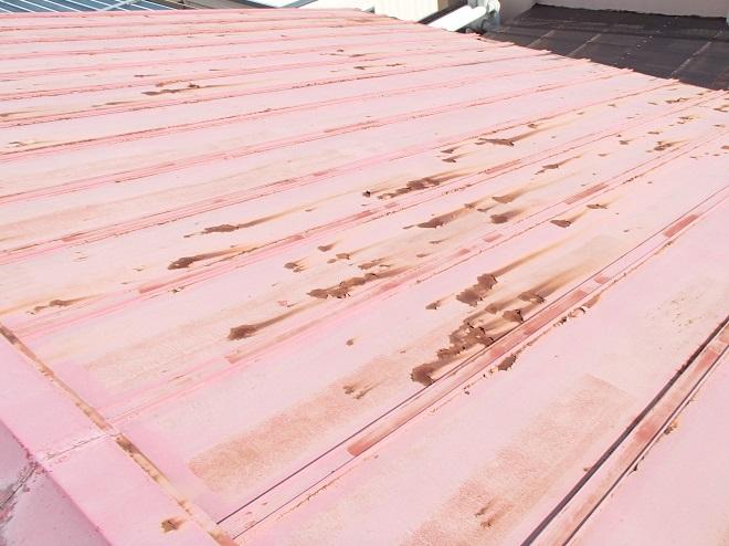 錆が見られるトタン屋根