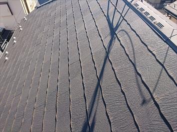 調査したスレート葺き屋根
