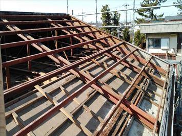 鉄骨屋根組
