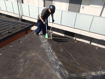 棟板金工事屋根清掃
