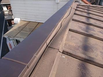ガルバリウム鋼板での笠木交換が完了
