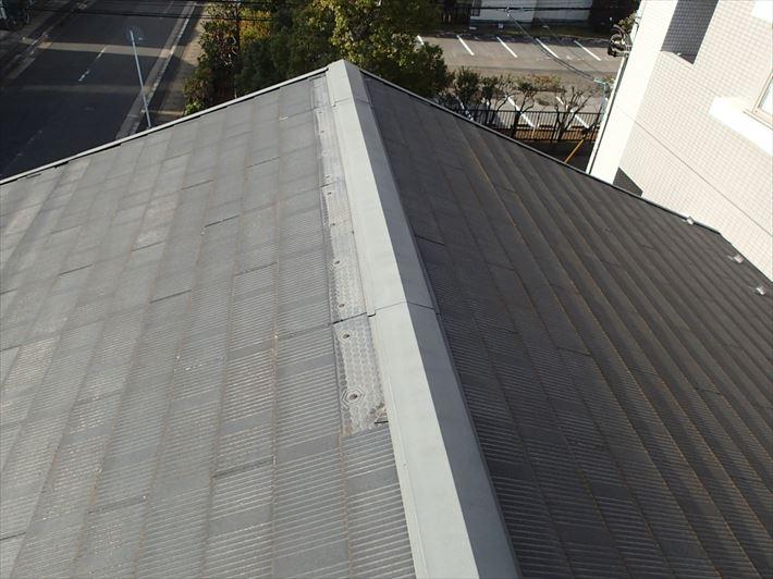 コロニアル屋根の被災