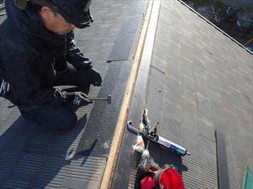 コロニアル屋根の補修