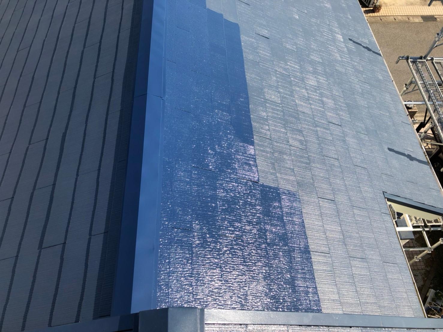 葺き替えて塗装したスレート屋根