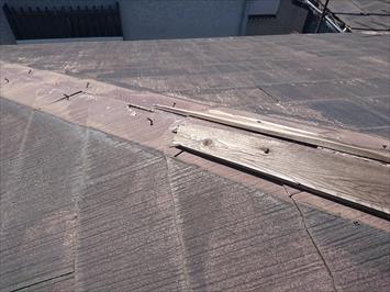 下地の貫板が腐食しています