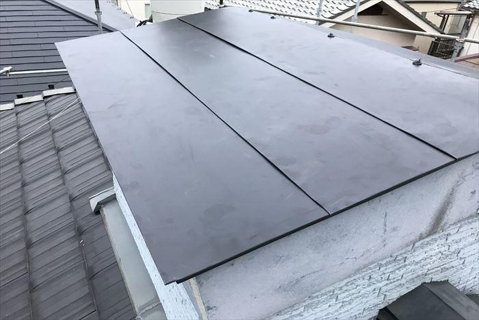 屋根の部分葺き替え工事完了です