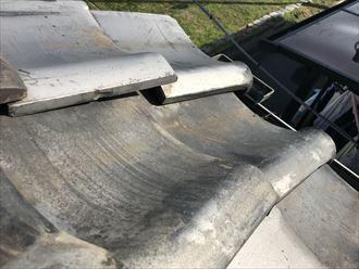 ズレてしまった瓦屋根