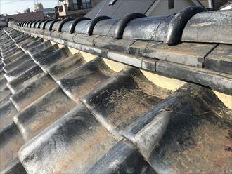 屋根の漆喰状況