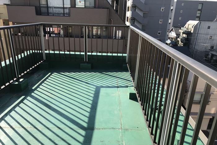 陸屋根の防水状況