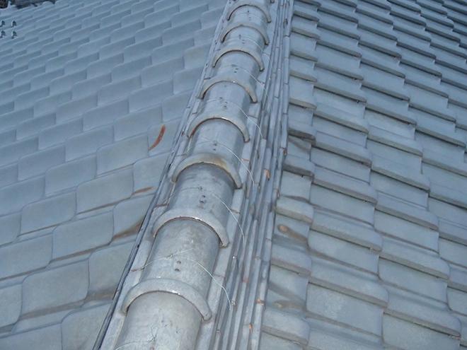 棟を上から見ると棟がずれています