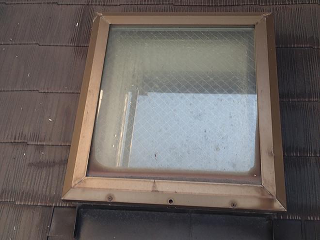 雨漏りしている天窓
