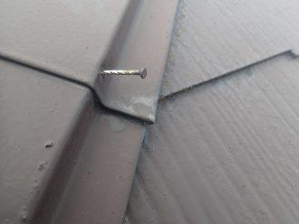 棟板金の釘の緩み