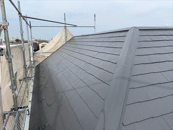 江戸川区松江でファインパーフェクトベストを使用した屋根塗装が終了しました