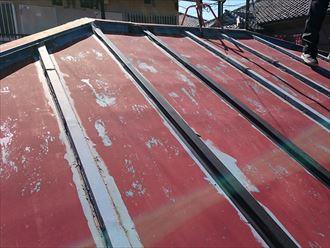 塗膜劣化したトタン屋根