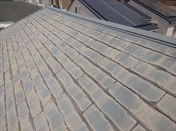 劣化が進んだスレート葺き屋根