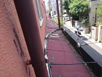 傷んだ瓦棒屋根
