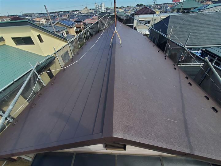 ガルバリウム鋼板を使用した屋根