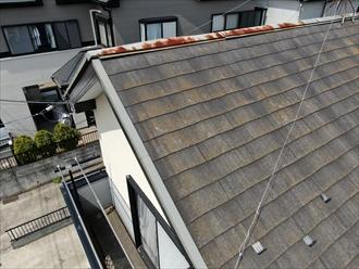 ドローンを使用したスレート屋根を調査します
