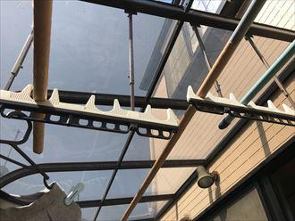 平板屋根の取り付け確認