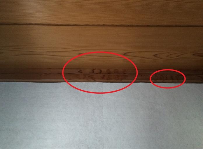 ご自宅の室内で雨漏り発生
