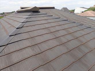 築22年のスレート屋根の調査の様子