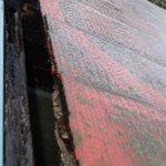 雨水が浸入して野地板が腐食
