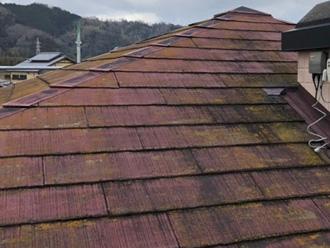 色褪せした屋根