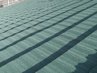 ジンカリウム鋼板のクラシックタイル シャーウットグリーン