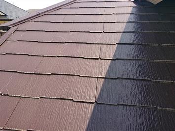 昨年塗装したスレート屋根