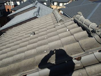 江戸川区春江町で強風でズレた瓦屋根の棟を取り直し工事いたしました