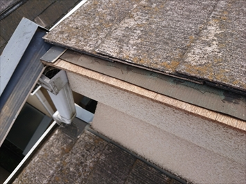 小金井市花小金井で強風で板金が外れたスレート屋根を葺き替え工事で直します