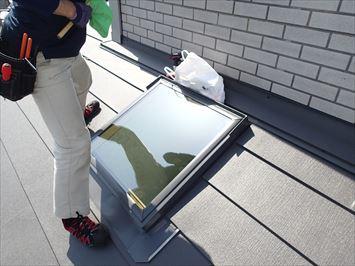 天窓ガラス交換完了
