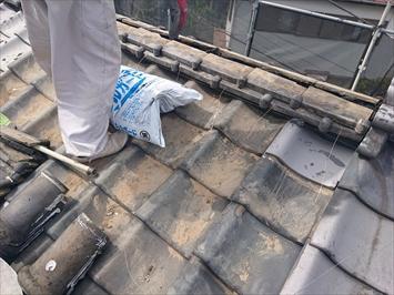 棟瓦も取り直し工事で直します