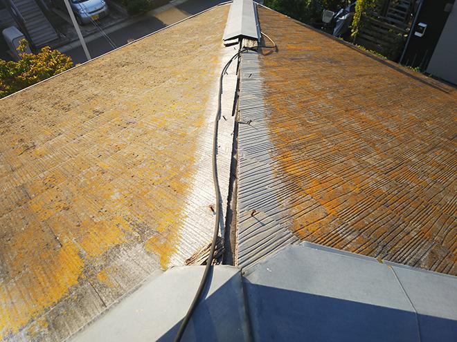 棟板金が無くなったスレート屋根