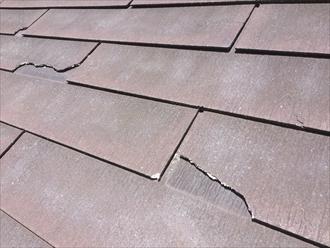 強風の影響で自宅の屋根に不具合