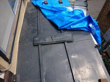 江戸川区松江で瓦棒屋根からの雨漏りを調査、火災保険を申請して行きます