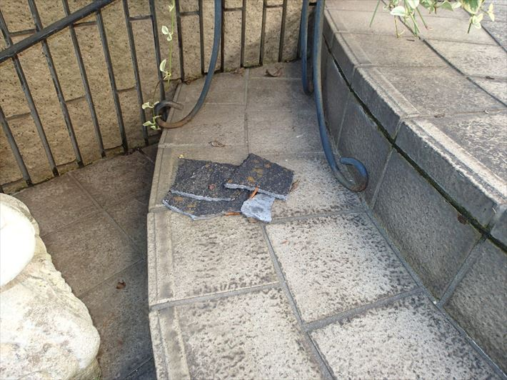 台風で落ちたアーバーニー