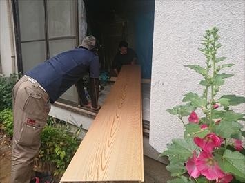 木目の仕上がりの和室天井
