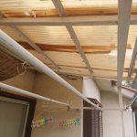 バルコニーの波板屋根