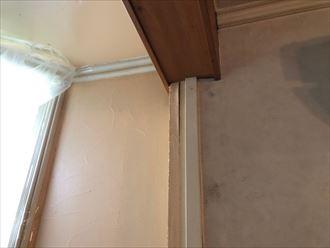 国立市谷保、1階の部屋で発生した雨漏りを調査しました