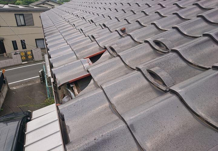 立川市錦町で強風によって瓦が破損、火災保険での修理をご提案しました