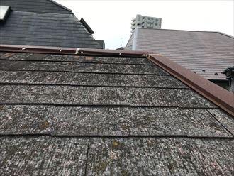 棟板金の錆び及び浮きの発生