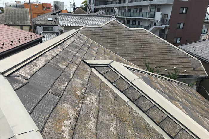 屋根の汚れやコケの付着
