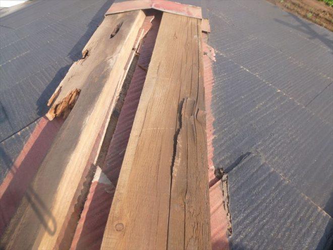 貫板の破損