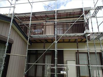ベランダ屋根補修完了