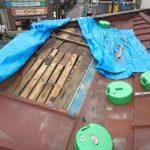 養生を剥がした屋根