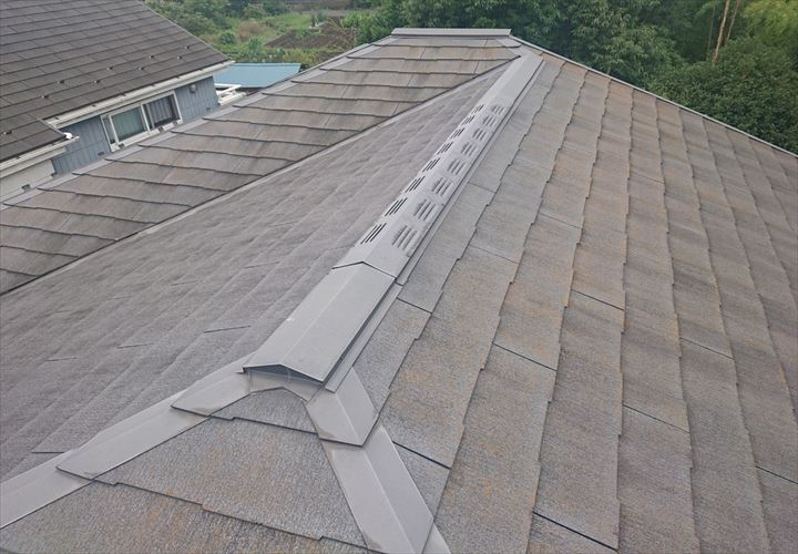 町田市東玉川学園でコロニアルNEOの屋根を調査しました
